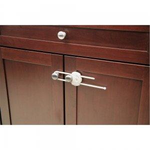 Safety 1st Устройство за заключване на шкаф с плъзгач 1 бр.оп. бял цвят